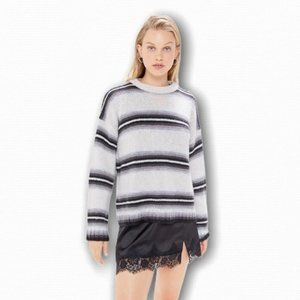UO Striped Crew Neck Sweater Black & White NWOT